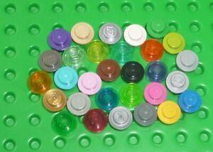 LEGO - PLATE, Round 1 x 1, choose colour & qty                 (4073) Y1