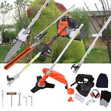 5 in 1 52cc Petrol Hedge Trimmer Chainsaw Brush Cutter Pole Saw Multi Purpose US