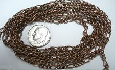 Figaro link chain bulk 5 feet length 6mm large link antique copper plated pch013