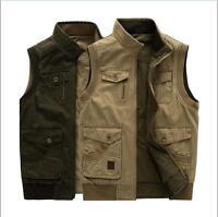16 Mens Casual Denim Vest Jean Jacket Sleeveless Shirt cotton Trucker Size L-9XL