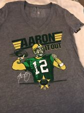 Green Bay Packers Aaron Rodgers Ladies V-Neck T-shirt Large NWT