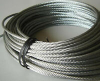 6mm 316 Stainless Steel Cable Wire Rope Grade 7x19 wire rope  1/4""
