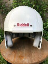 White Gloss Riddell Revolution Speed Football Helmet Decals Ready - Extra Large
