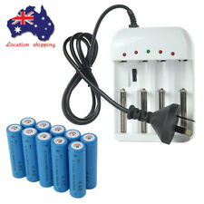 18650 Rechargeable Battery 4000mah Lithium Li-Ion 3.7v AU Charger For Flashlight