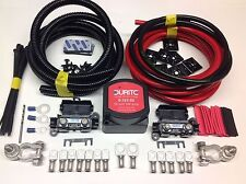 7mtr Split Carga relé Kit 140amp Durite Voltaje sentido Relay + 110amp Cable