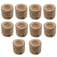 10Pcs Rustic Candle Holder Tealight Holder Candlestick Wedding Home Decor Q8D9