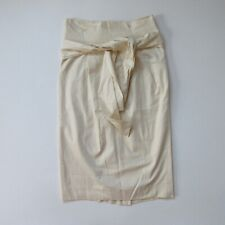 NWT J.Crew Paper-bag Skirt in Linen Beige Twill Cotton Belted Skirt 8 $118