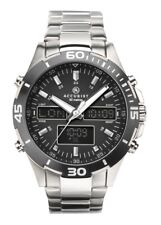 Accurist Mens Analogue and Digital World Time Watch with Stainless Steel Stra...