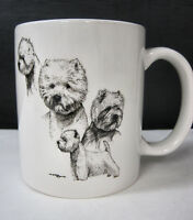 Westie West Highland Terrier Cup Mug Container Coffee Tea Dog Show Puppy Black
