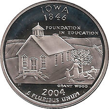 IOWA  2004 -S Proof Silver State Quarter - DCAM