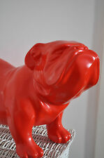 Englische Bulldogge ROT 60 cm x 38 cm groß Designer Deko Figur, GARTEN