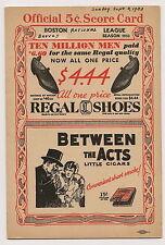 1933 Boston Braves-Giants Program Clubs Work Overtime NICE!!