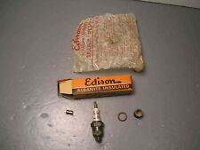 Vintage Edison Splitdorf Albanite Insulated Number 4 Spark Plug Antique Old