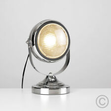 Chrome Vintage Retro Car Headlight Custom Style Table / Desk Lamp Head Light NEW