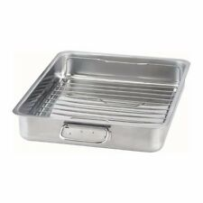 IKEA Large Roasting Tin With Grill Rack Oven Tray Baking Pan Stainless Steel
