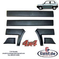 FIAT PANDA 86>03 4X4 1986>2003 KIT 6 PZ MODANATURE NERE LATERALI + 2 SCRITTE 4X4