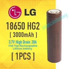 LG 18650 HG2 3000mAh 3.7v High Drain 20A Rechargeable Flat Top Li-ion Battery