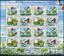 SERBIA 2016 Children's Stamp''Frog is Reading Newspaper'' by JJ Zmaj sheet MNH