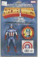 Secret Wars #4 (Captain America Variant Cover) : September 2015 : Marvel Comics