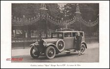Publicité Automobile  Georges Irat 11 cv car vintage ad  1926 -10i