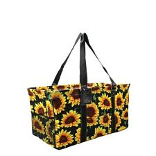 "Canvas Classic XL All Purpose Open 23"" Utility Tote Bag NGIL Sunflower Summer"