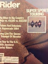 Rider Magazine Ninja Vs Fj1100 Vs GS1150 September 1984 020518nonrh