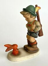 New ListingGoebel Hummel Figurine 'Sensitive Hunter' #6/0 Tmk-2 Boy w/ Bunny Rabbit 5.25""