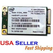 Intel 512AN_MMW WiFi Link 5100 IEEE 802.11 AGN Mini PCI-E laptop Wireless Card**