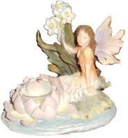 Romantic Fairies Figurine/Votive holder # 5609 - Box is worn but figure is mint