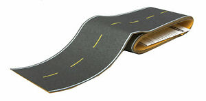 Walthers HO Scale Flexible Self-Adhesive Paved Roadway Highway (Yellow Lines)
