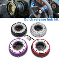 Steering Wheel Slim Quick Release Hub Adapter Removable Snap Off Boss Kit Black