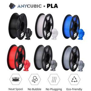 ANYCUBIC Filament 1KG 1,75mm PLA Spule Rolle für 3D-Drucker Schwarz Weiß Grau