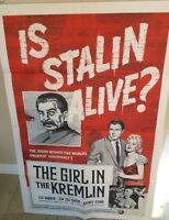 "VERY RARE ORIG. 1957 ""THE GIRL IN THE KREMLIN"" 1-SHEET 27"" X 41"" MOVIE POSTER!!!"