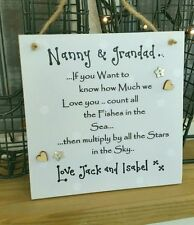 Handmade Personalised Square Decorative Plaques & Signs