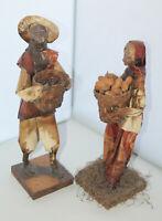 Pair of Mexican Folk Art Paper Mache Figures