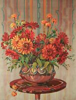 """Flowers in Antique Vase"" Original Water Color & Tempra 16.75""x12.75"" item 2258"