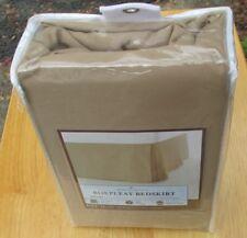 Kohls New Bed Skirt Home Classics Full size Khaki Box Pleat new in package