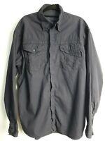 Versace Men's Long Sleeve Casual Navy Blue 100% Cotton Shirt Size L