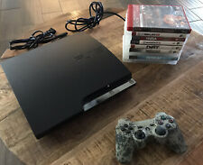 Sony Playstation 3 PS3 Slim 320GB CECH-2501B Console Lot Games 9 System Bundle