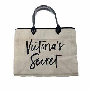Victoria's Secret Beige Canvas Shoulder Bag Medium New
