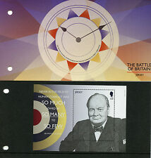 Jersey 2015 MNH WWII Battle of Britain 1v M/S Presentation Pack Churchill Stamps