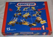 ERECTOR METAL CONSTRUCTION SET: 15 Models, Meccano,