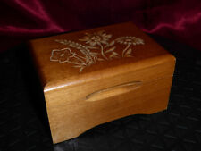"""Vintage Wooden Swiss Musical Movement MUSIC BOX """"Le Vieux Chalet"""" Carved Wood"""