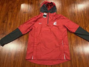 Nike Men's Washington State Football Player 1/4 Zip Hoodie Jacket Large L Cougs