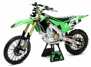 KAWASAKI KX 450 ELI TOMAC. 1:6 SCALE MOTORCYLE MODEL. DIRT BIKE. NEW RAY TOYS.