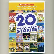 20 Halloween Stories, ages 3-8, 3+ hours Scholastic animated storybooks, new DVD