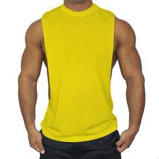 Mens GYM Vest Bodybuilding Muscle Sport Stringer Trainning Plain Tank Tops Loose