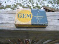 Nice Gem Micromatic Open Comb Type Silver Tone SE Safety Razor w/Original Box