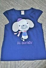 Gymboree Girls' Navy Blue French Poodle Short Sleeves Cotton T-Shirt - Size 5T
