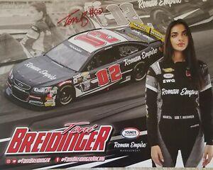 AUTOGRAPHED 2021 TONI BREIDINGER #02 ROMAN EMPIRE NOT NASCAR ARCA POSTCARD